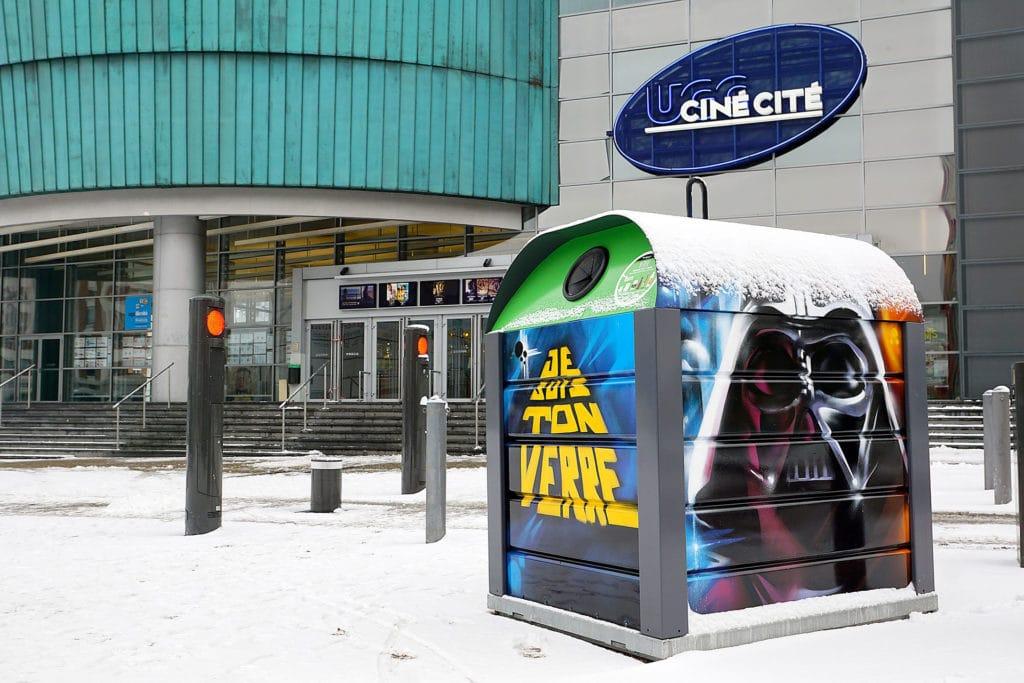 Conteneur à verre Star Wars à Strasbourg