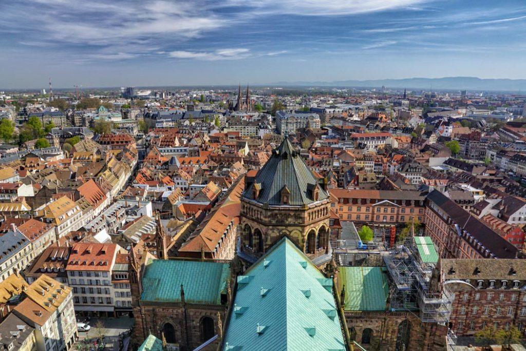 Vue depuis la Cathédrale de Strasbourg