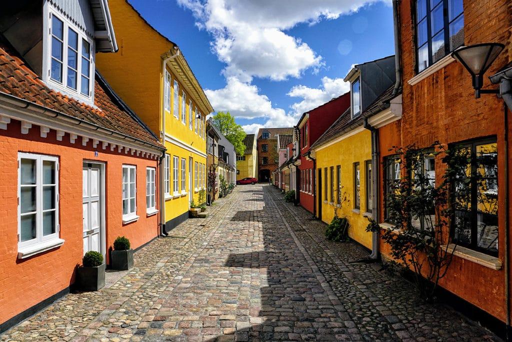 Maisons dans la vieille ville d'Odense