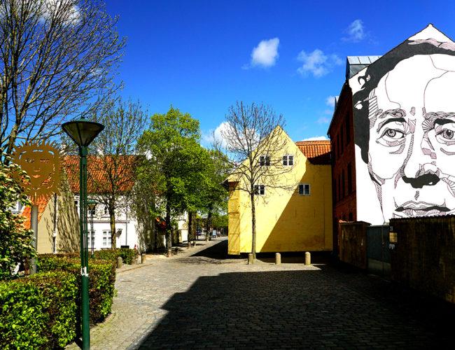 Portrait d'HC Andersen à Odense