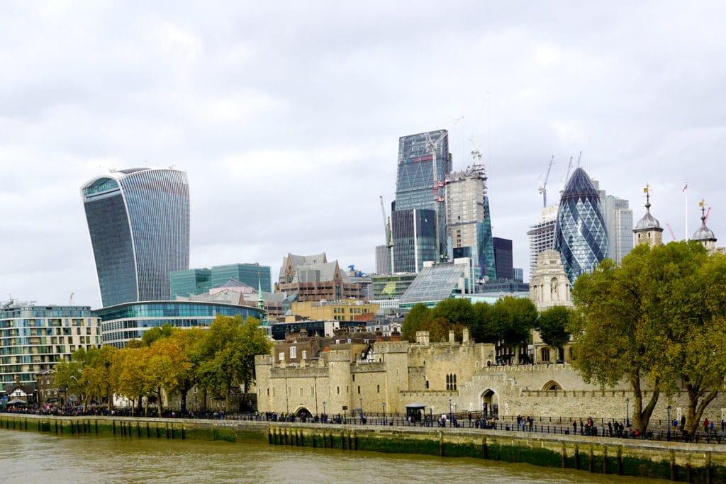 Vue sur la City de Londres