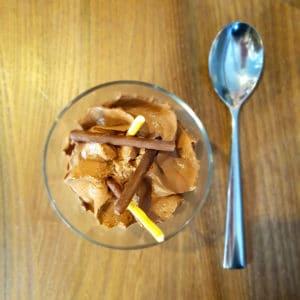 Siphon chocolat et glace noisette - L'Hédoniste Strasbourg