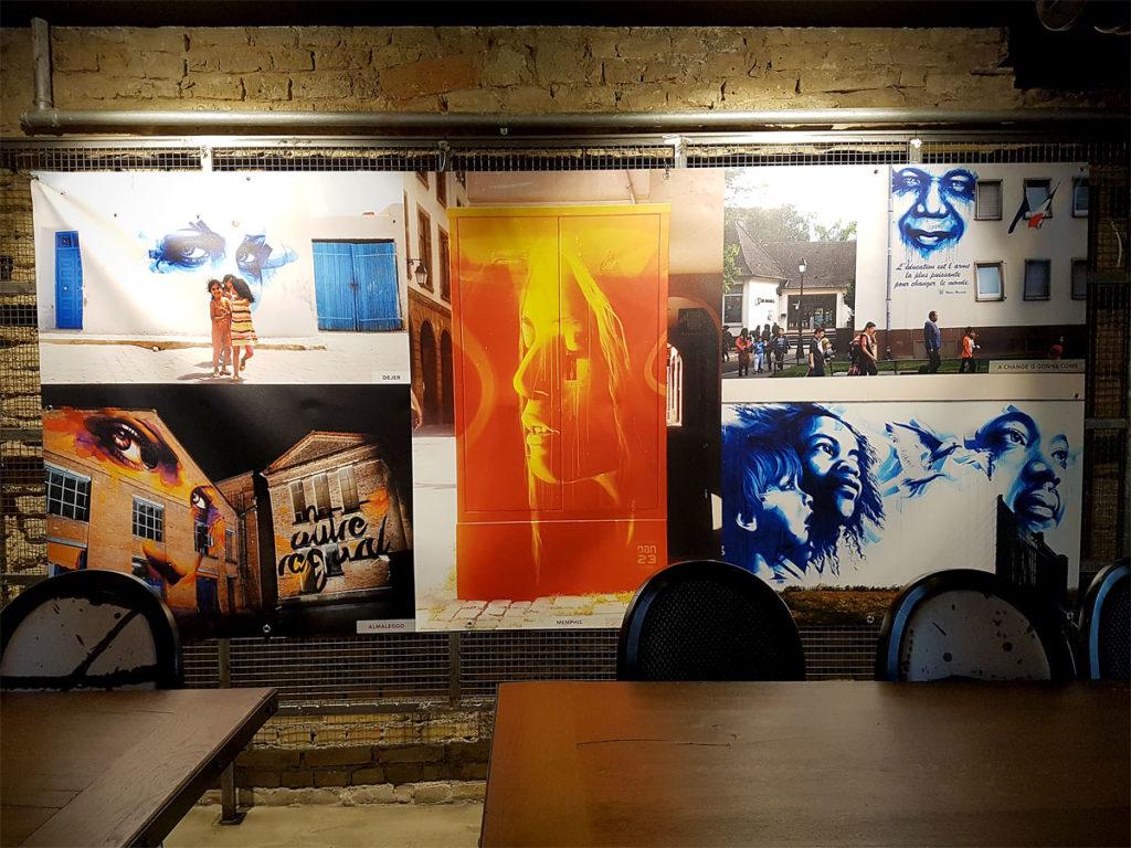 Exposition Street-Art à la Brasserie WOW à Strasbourg avec Dan23