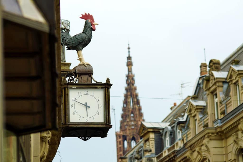 Le Coq des DNA rue de la Nuée Bleue à Strasbourg