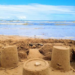 Chateau de sable à Asnelles en Normandie