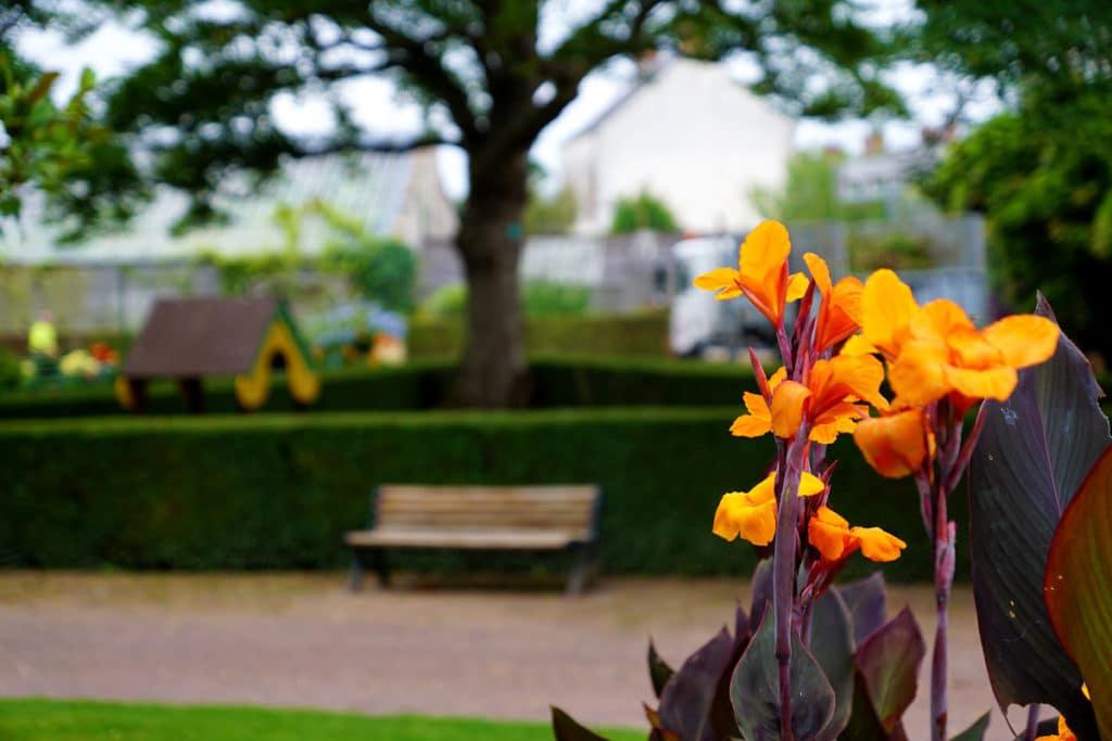 Aire de jeux au jardin botanique de Bayeux