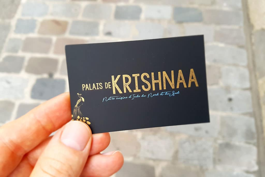 Palais de Krishnaa, restaurant indien à Paris