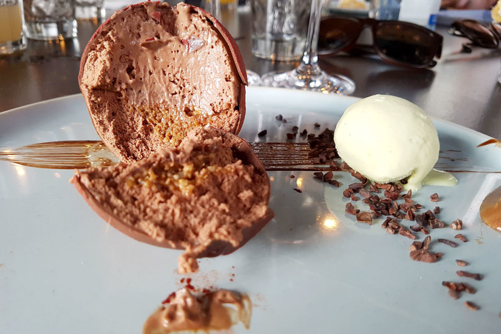 Restaurant Les Innocents - Bombe au chocolat