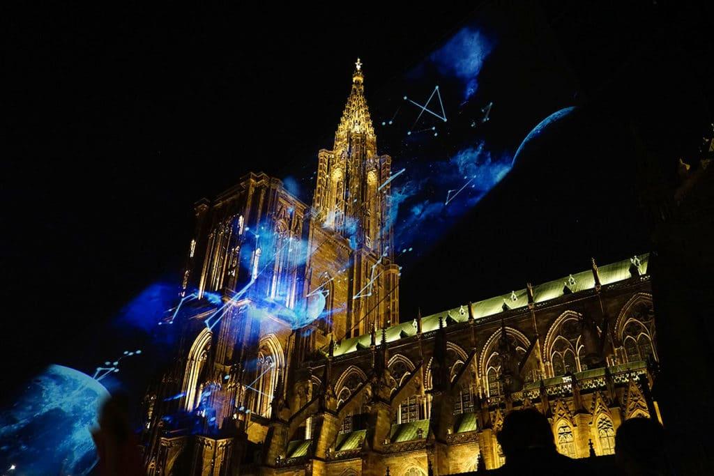 Spectacle LUX son et lumière à la Cathédrale de Strasbourg