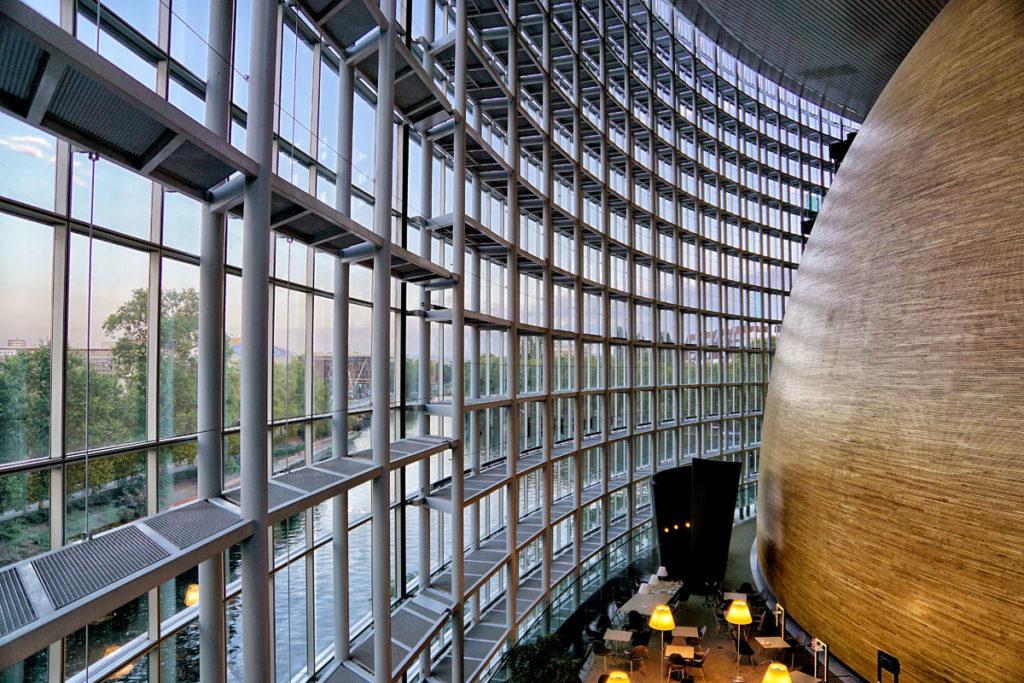 Verrière du Parlement européen de Strasbourg