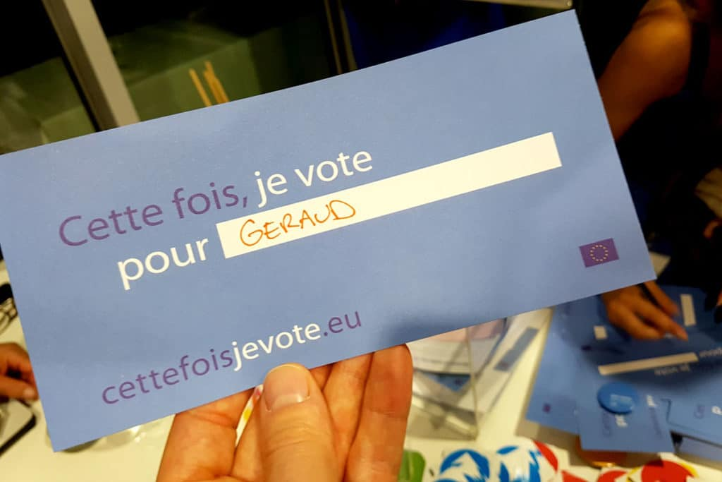 Je vote pour Géraud