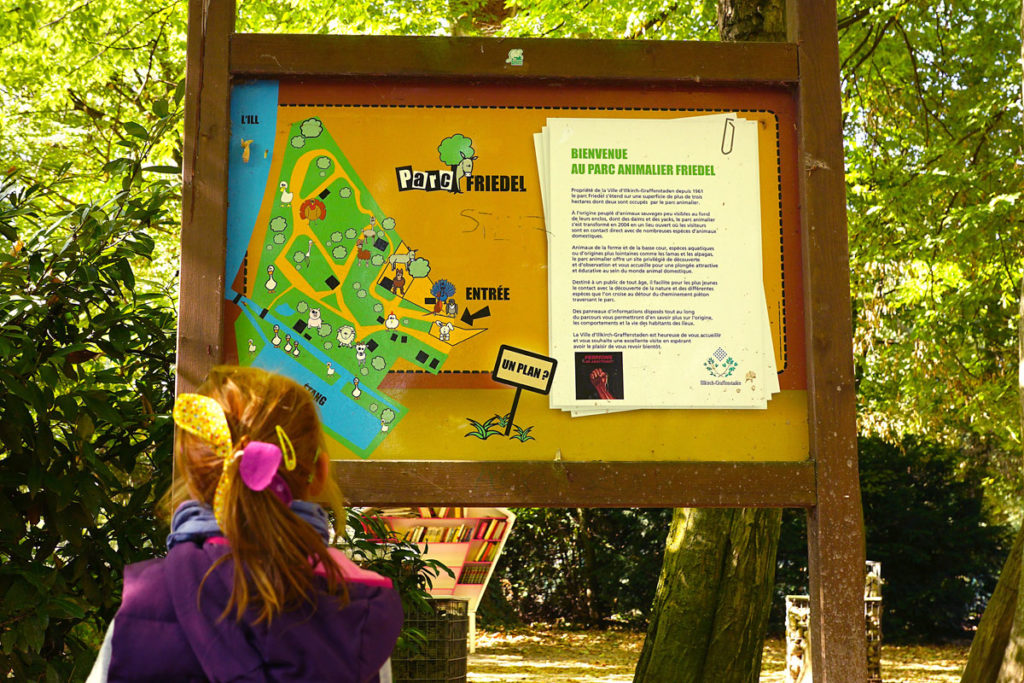 Plan du Parc Friedel à Illkirch