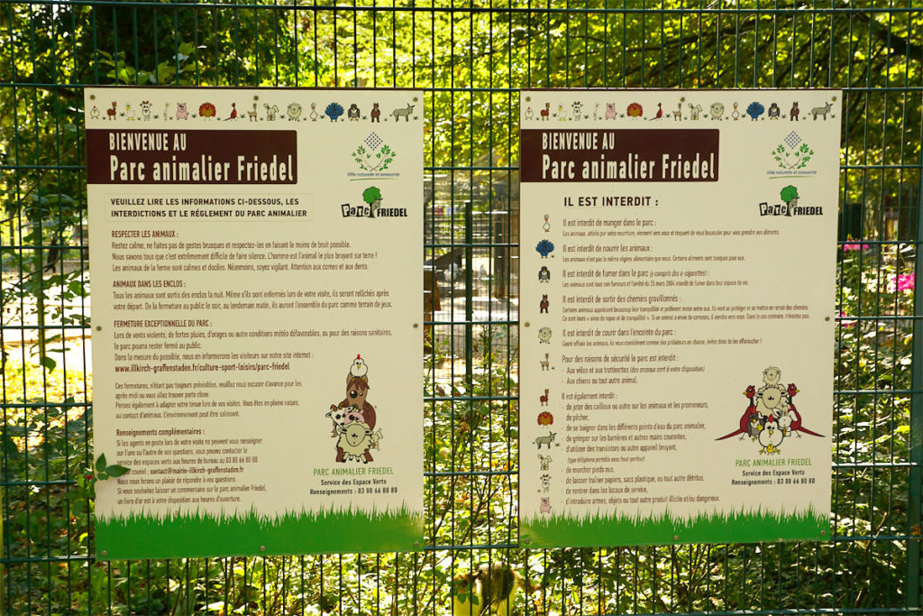 Règles du Parc Friedel à Illkirch
