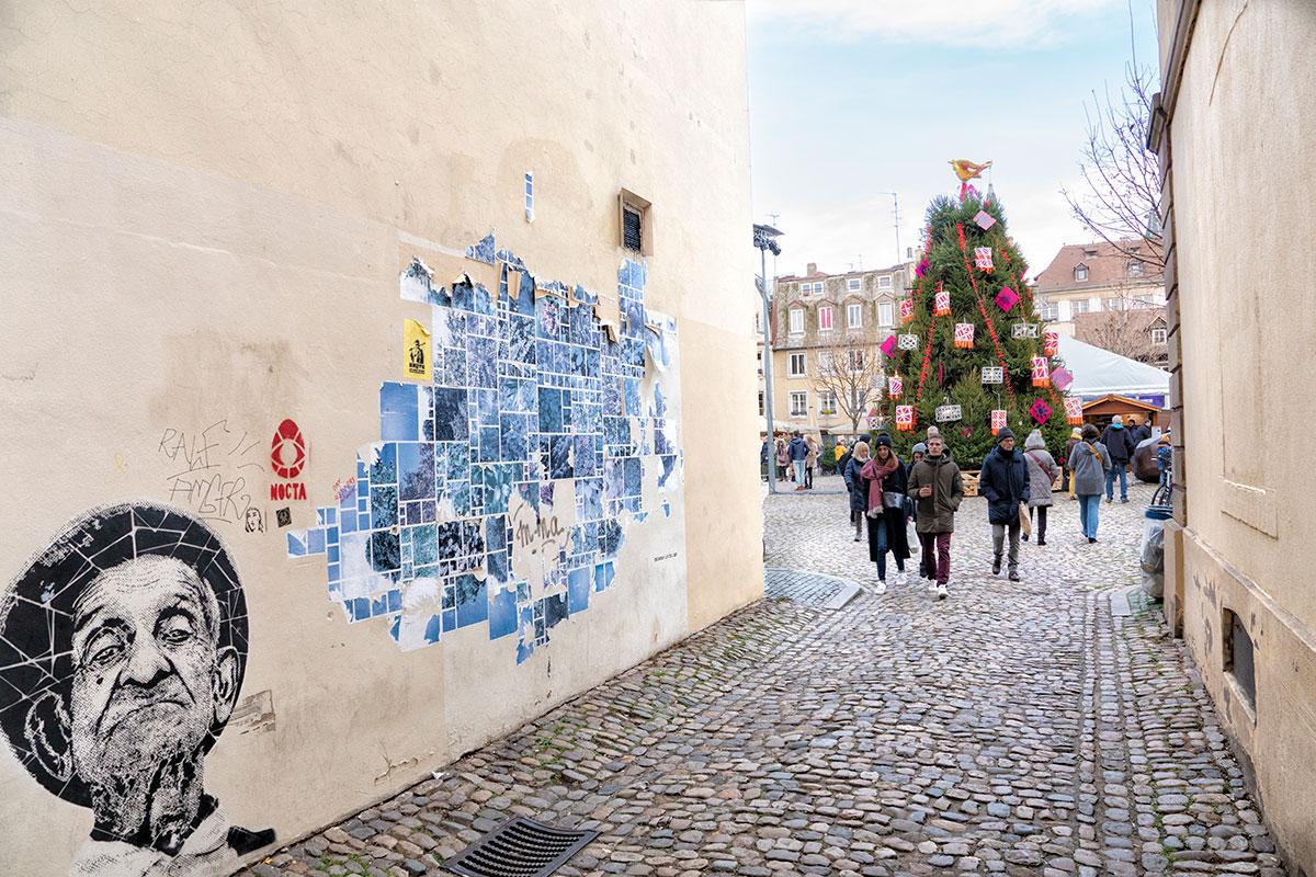 Place du Marché Gayot à Noël
