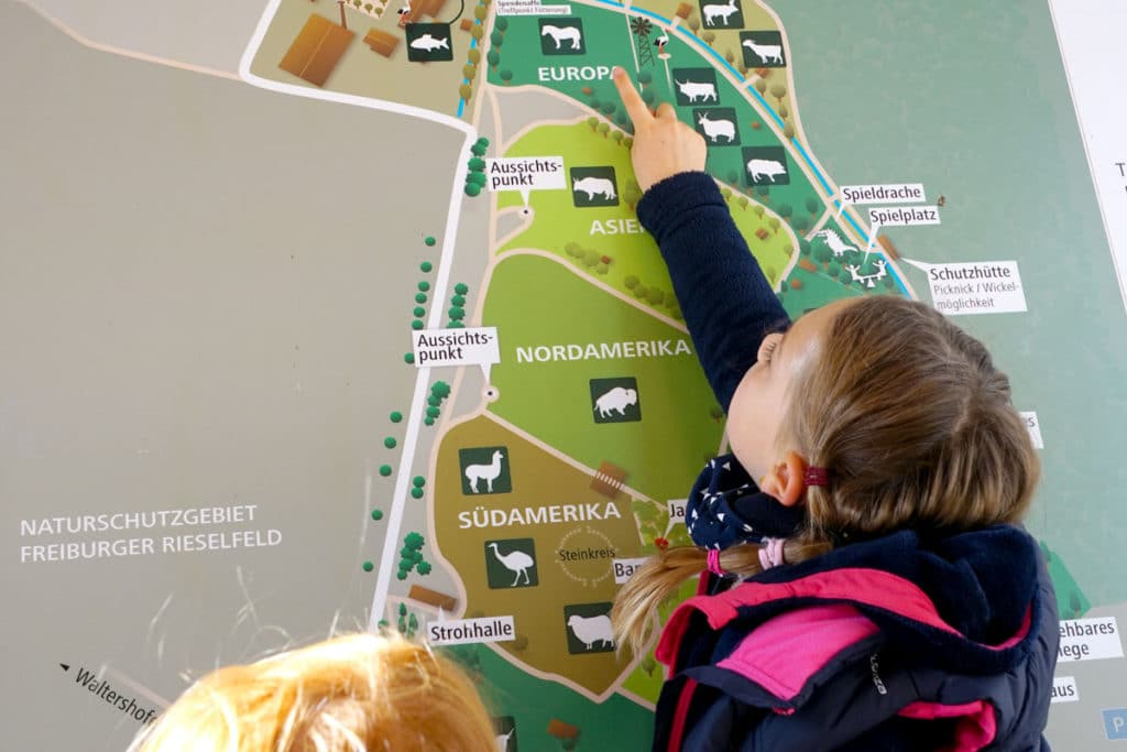 Plan du parc animalier du Mundenhof