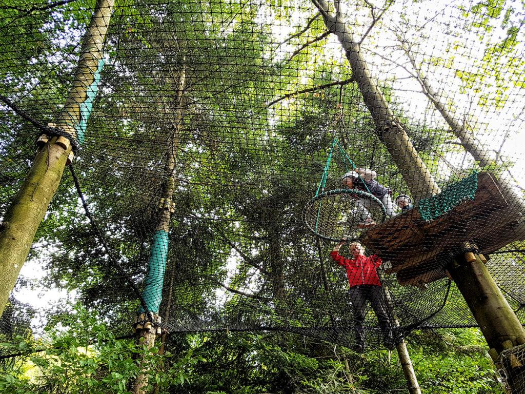 Accrobranche au Center Parcs des Trois-Forêts
