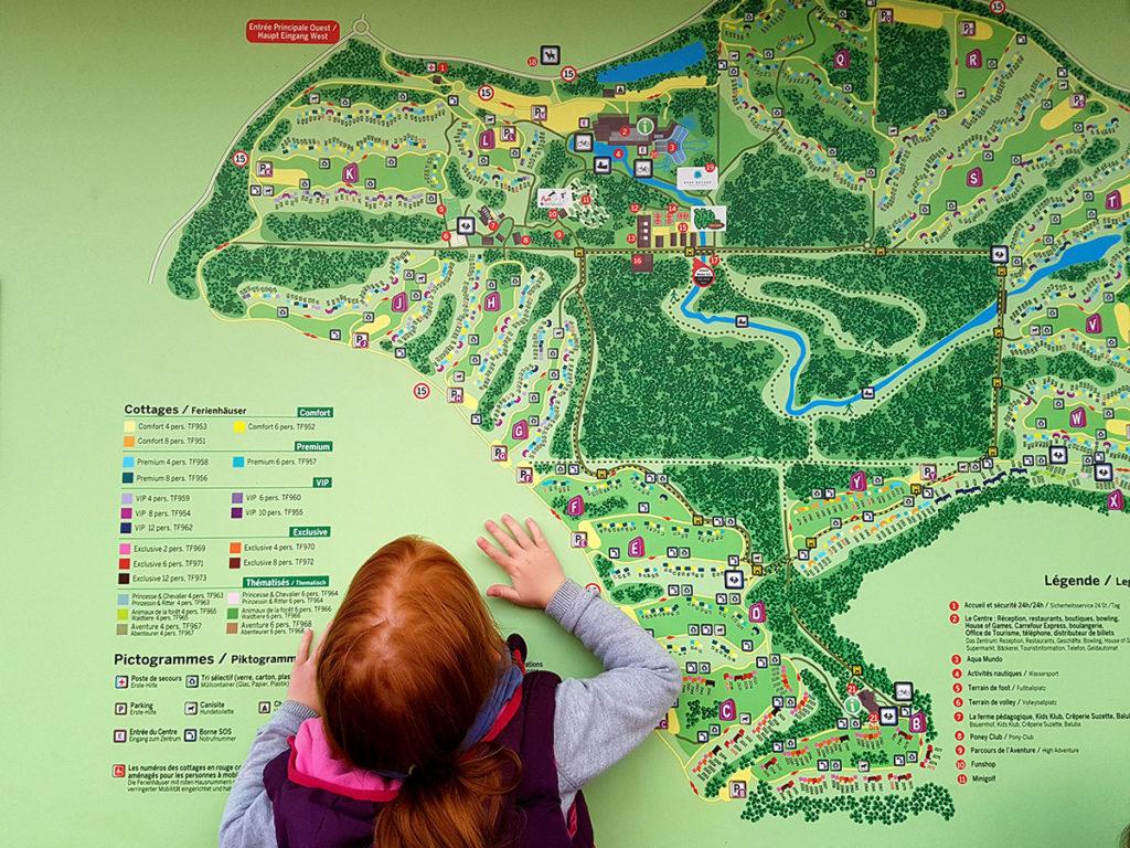 Plan du Center Parcs des Trois-Forêts
