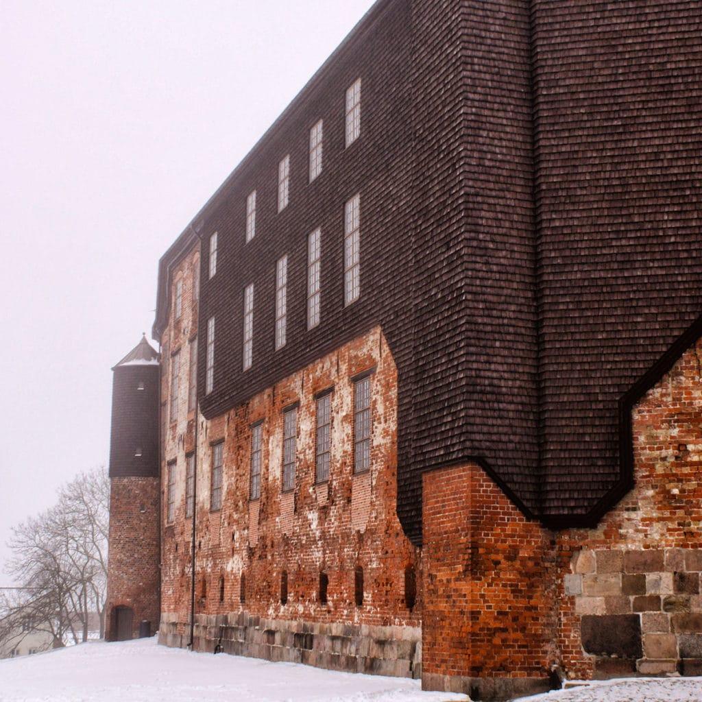 Chateau de Kolding sous la neige