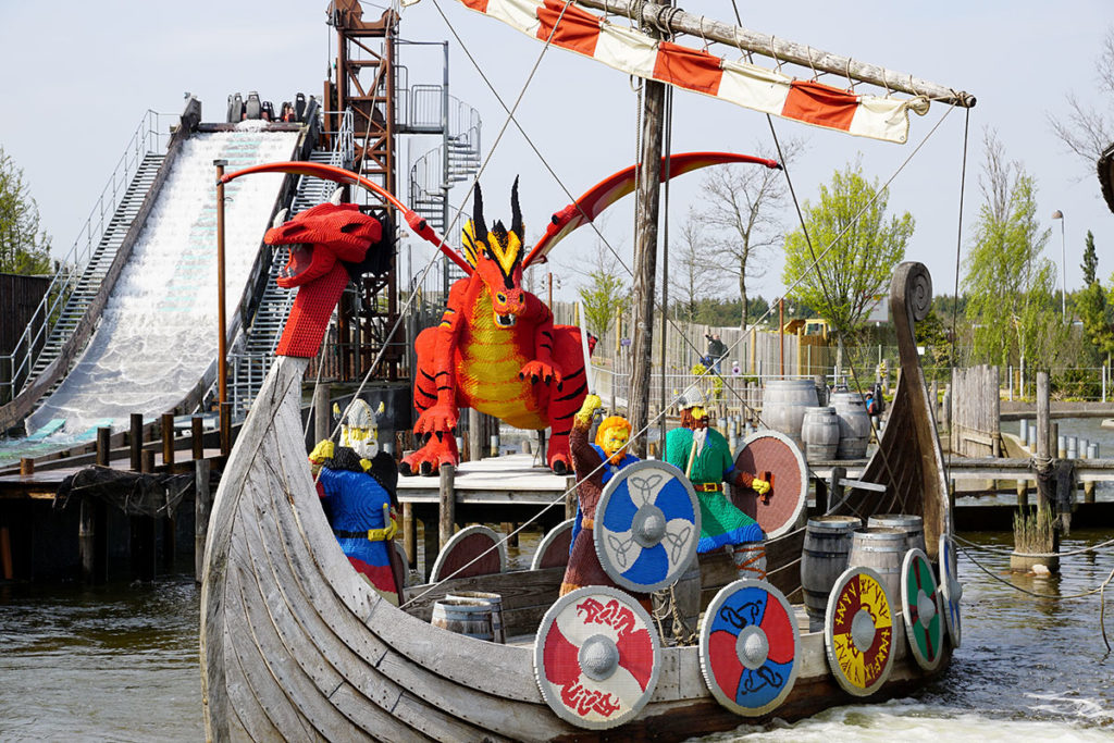 Bateau viking en Lego à Legoland Billund