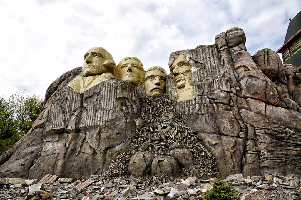 Mont Rushmore en Lego à Legoland Billund