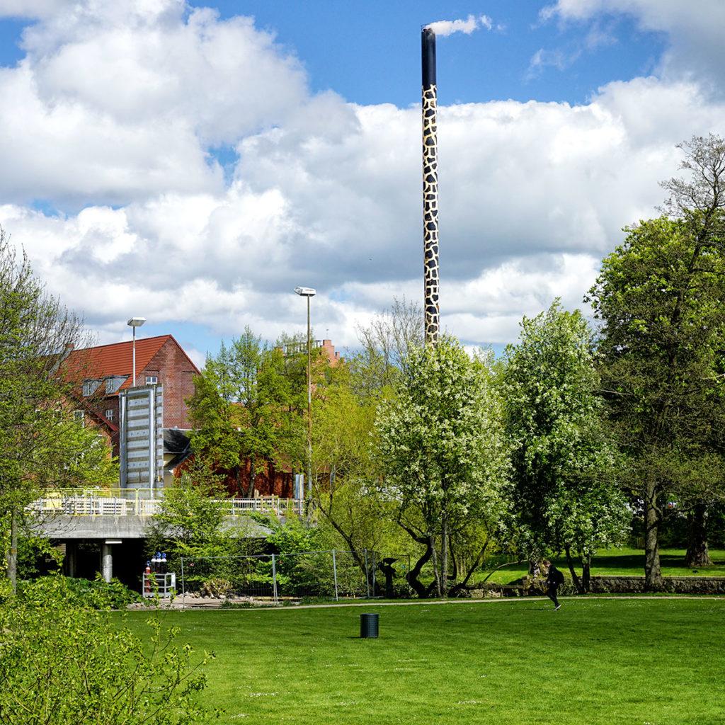 Cheminée girafe de la brasserie Albany à Odense