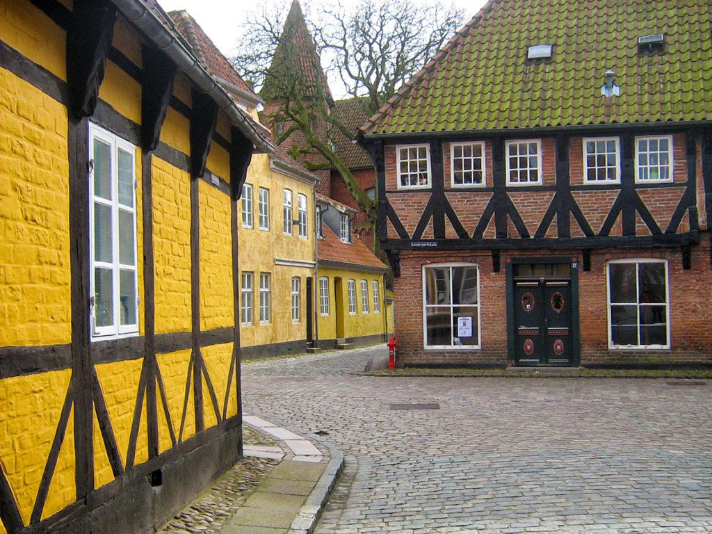 Rue de Ribe au Danemark