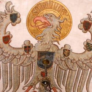 Aigle impérial de Guillaume II au château du Haut-Koenigsbourg