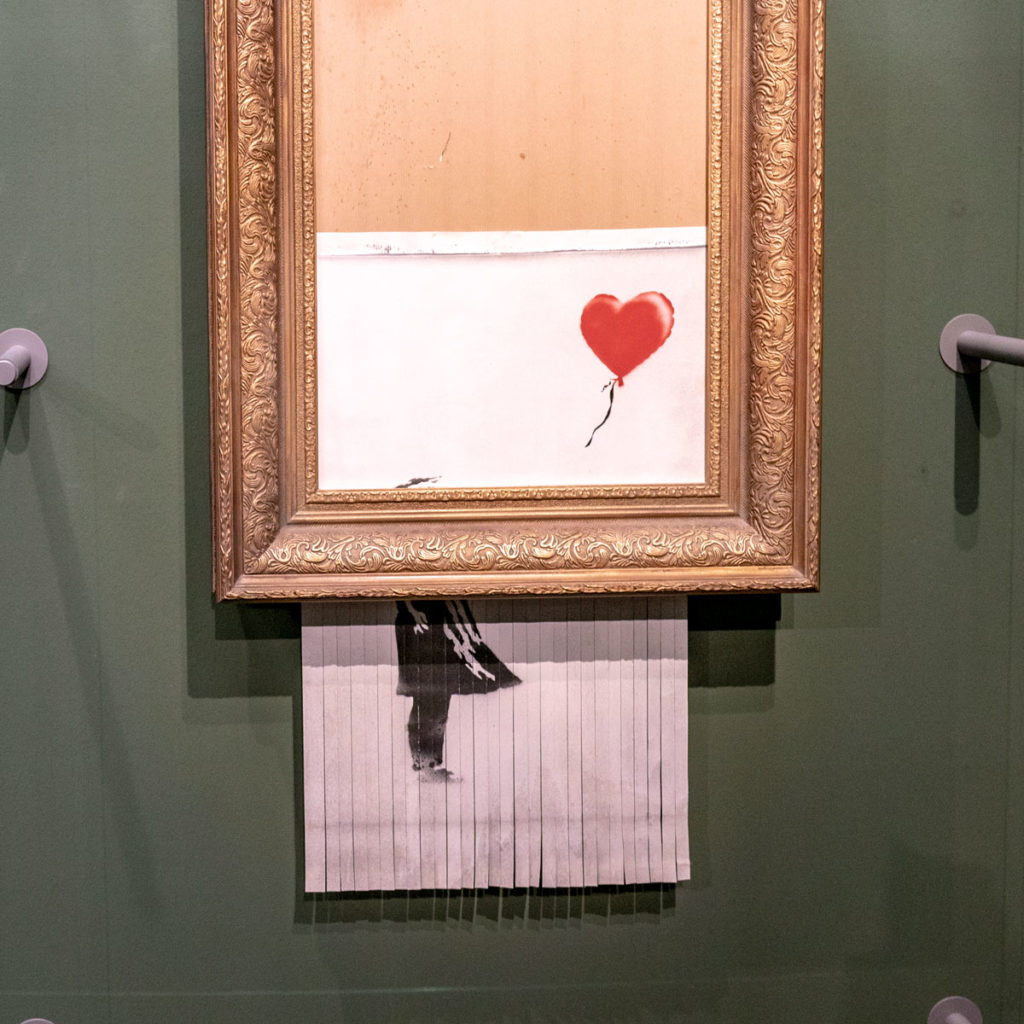 Banksy - Love is in the bin - Staatsgalerie à Stuttgart