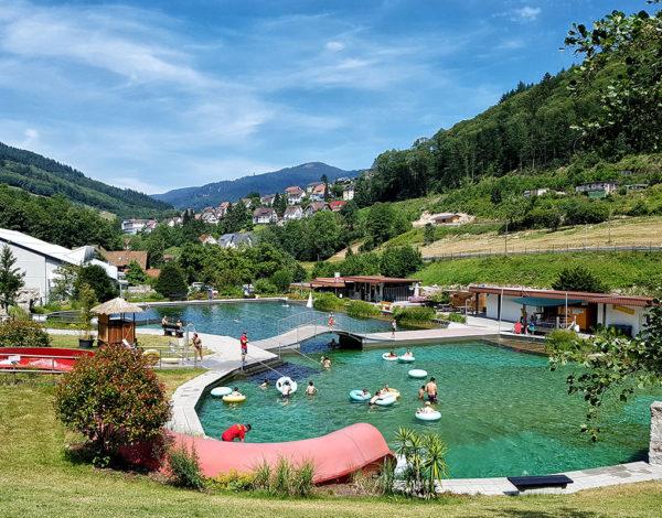 Baignade dans la piscine naturelle d'Ottenhöfen