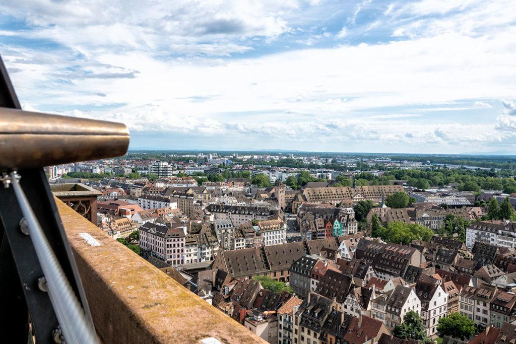 Vue sur Strasbourg depuis la plateforme de la Cathédrale