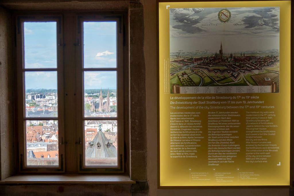 Vue depuis la maison des gardiens de la cathédrale de Strasbourg