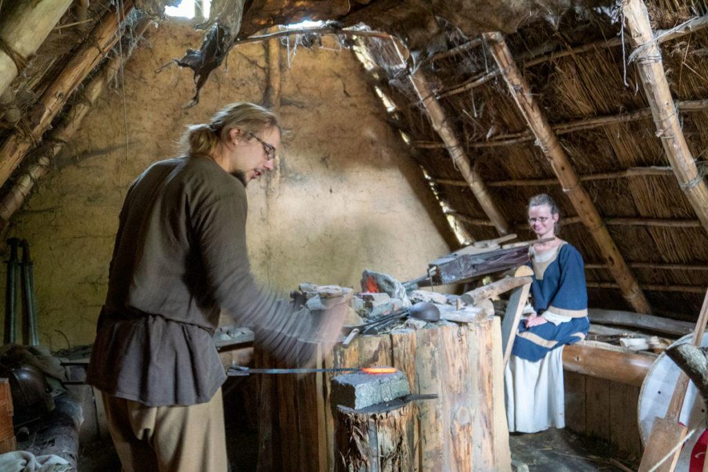 Le travail de la forge à Ornavik
