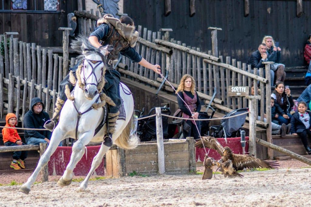 Spectacle des rapaces et chevaux au zoo d'Amnéville