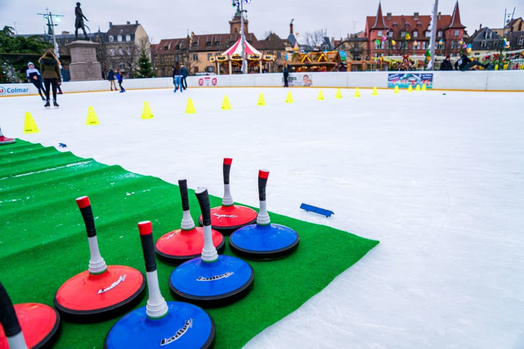 Eisstock sur la patinoire de Colmar