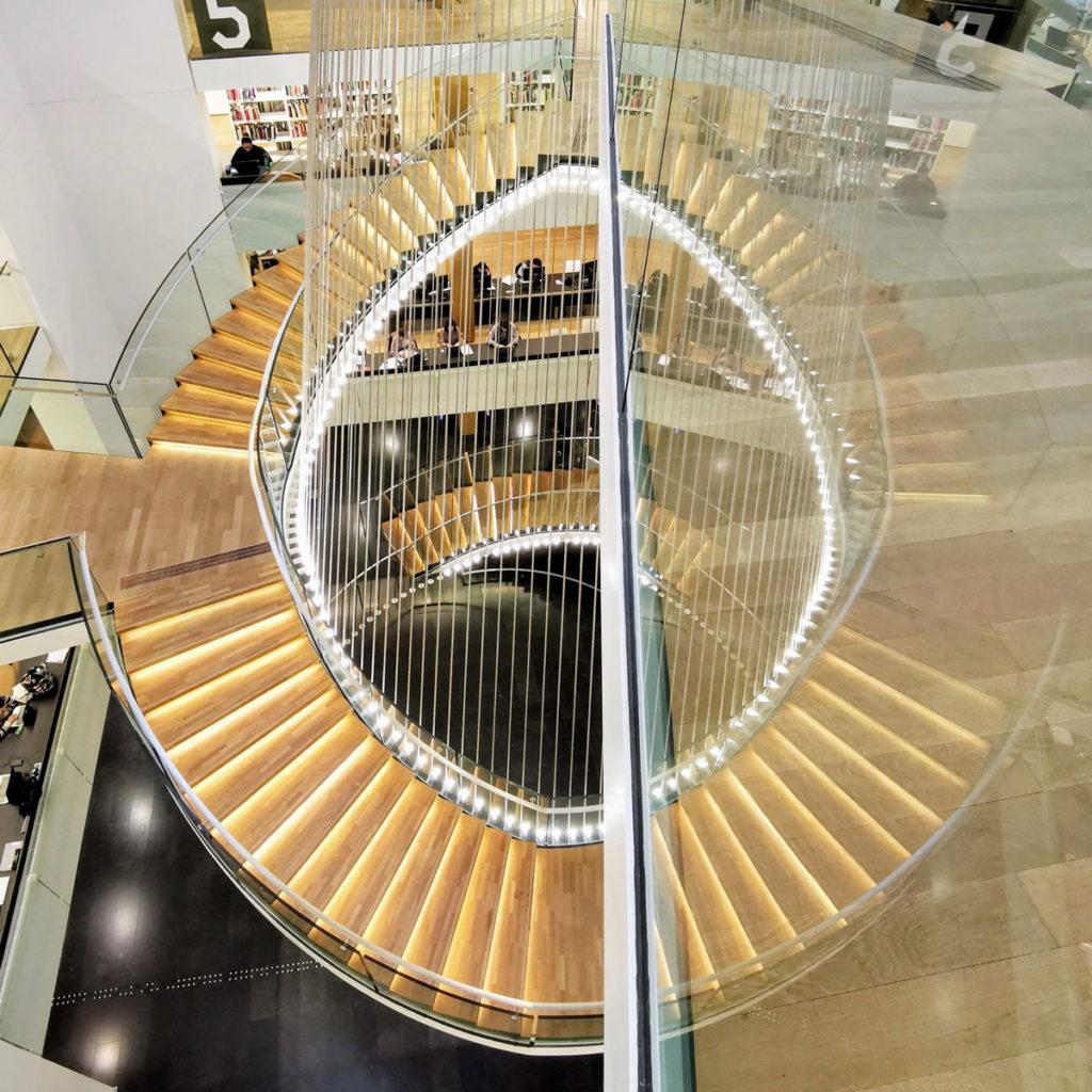 Escalier de la BNU Strasbourg