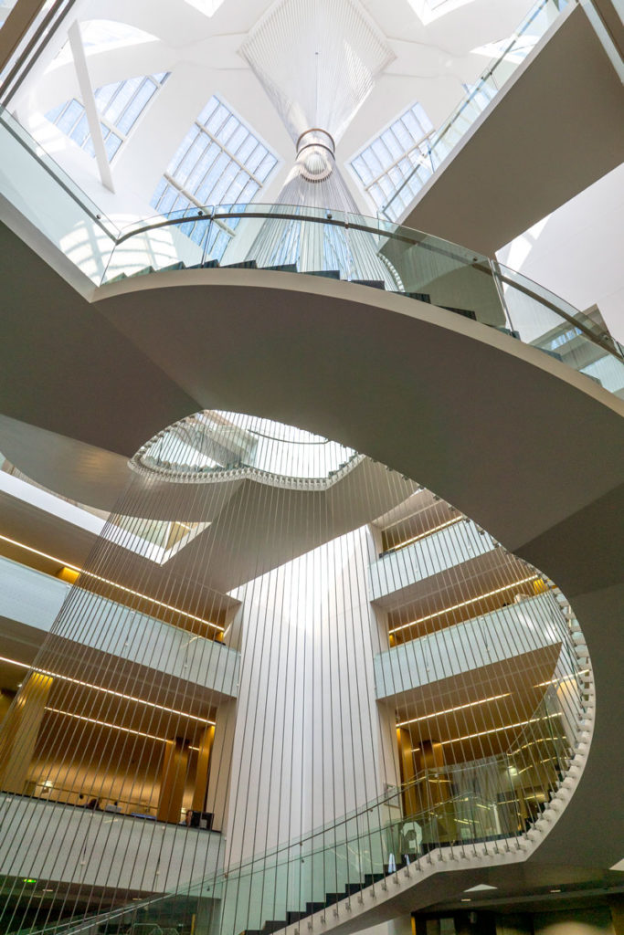 Escalier de la BNU de Strasbourg