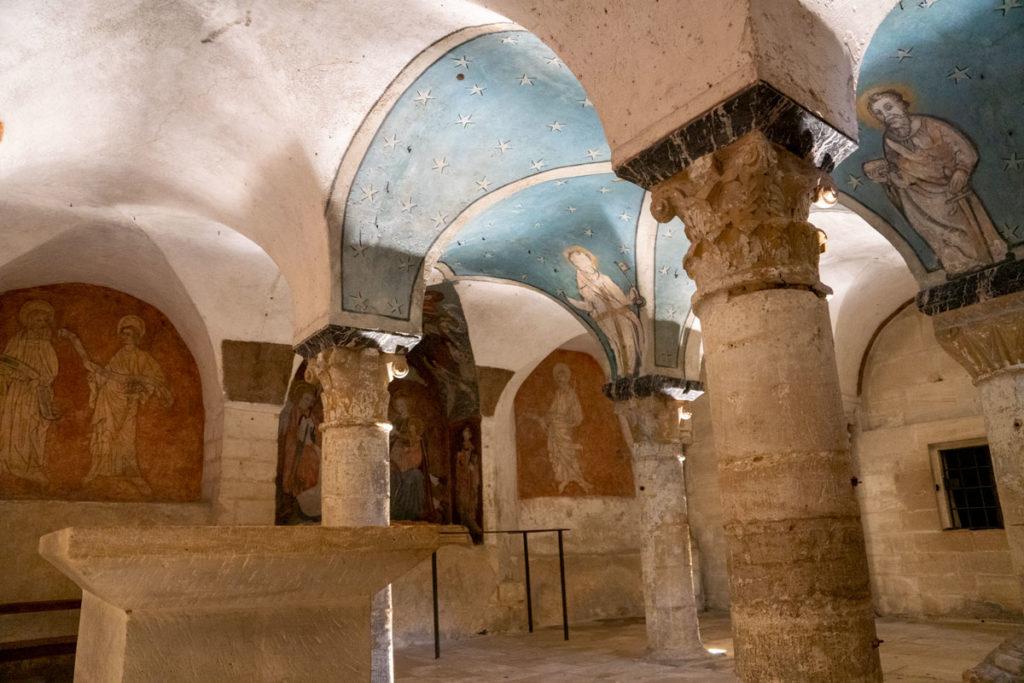Peintures du XVe siècle dans la crypte de la cathédrale de Bayeux