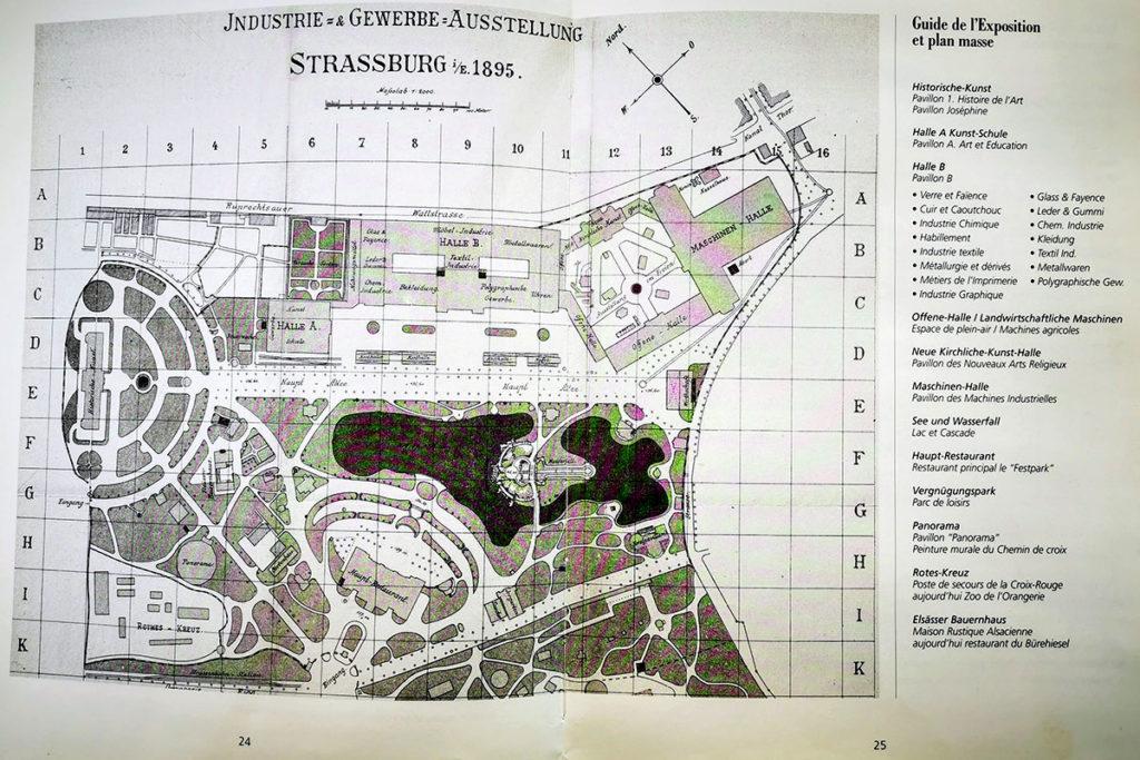 Plan de la grande exposition à l'Orangerie en 1895
