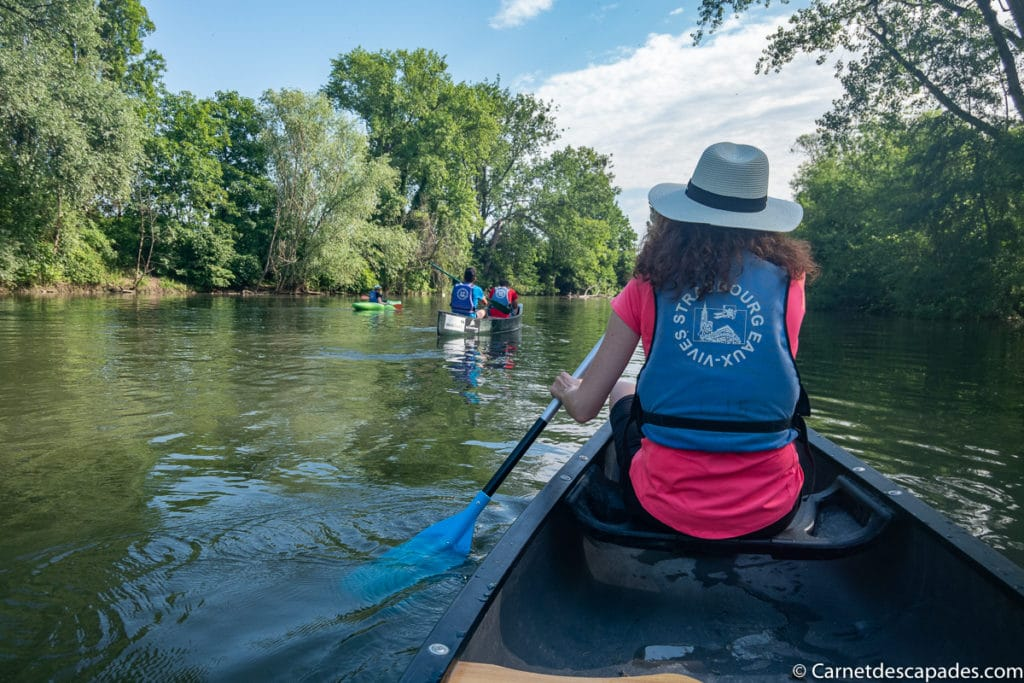 Randonnée en canoe à Strasbourg