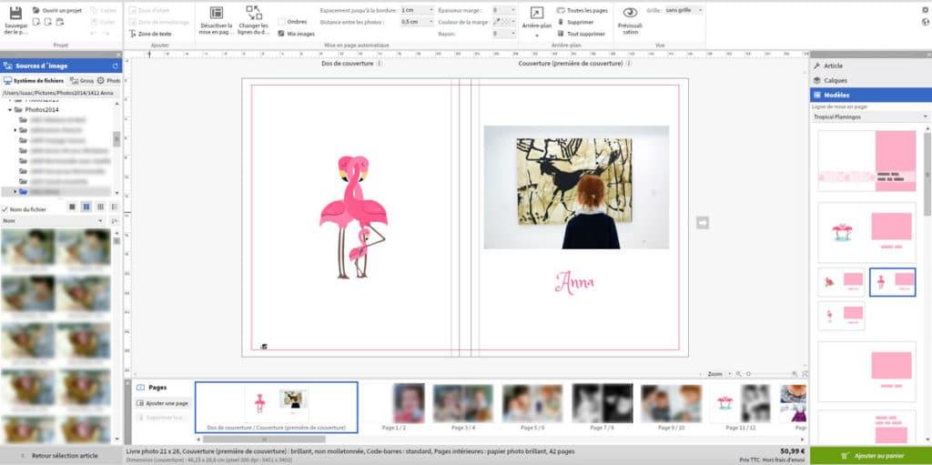 Edition des photos logiciel Saal Digital