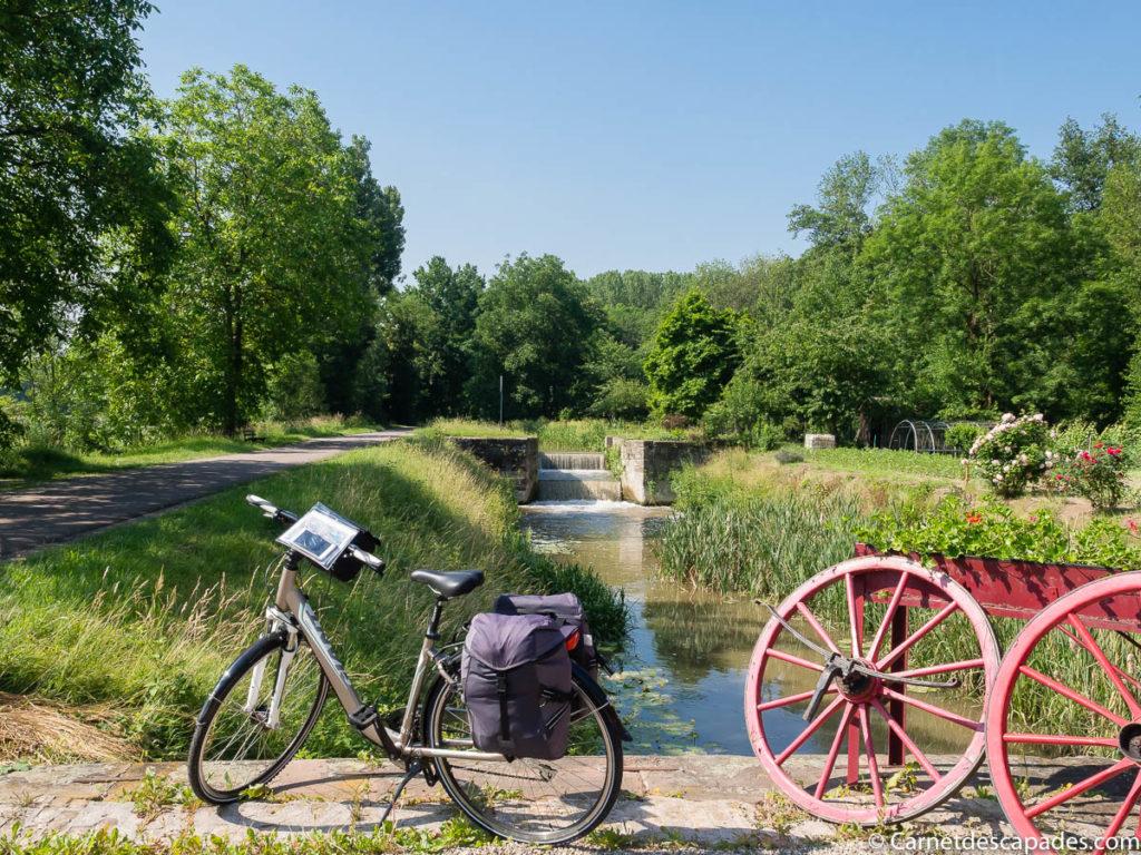 Vélo le long du canal de la Bruche