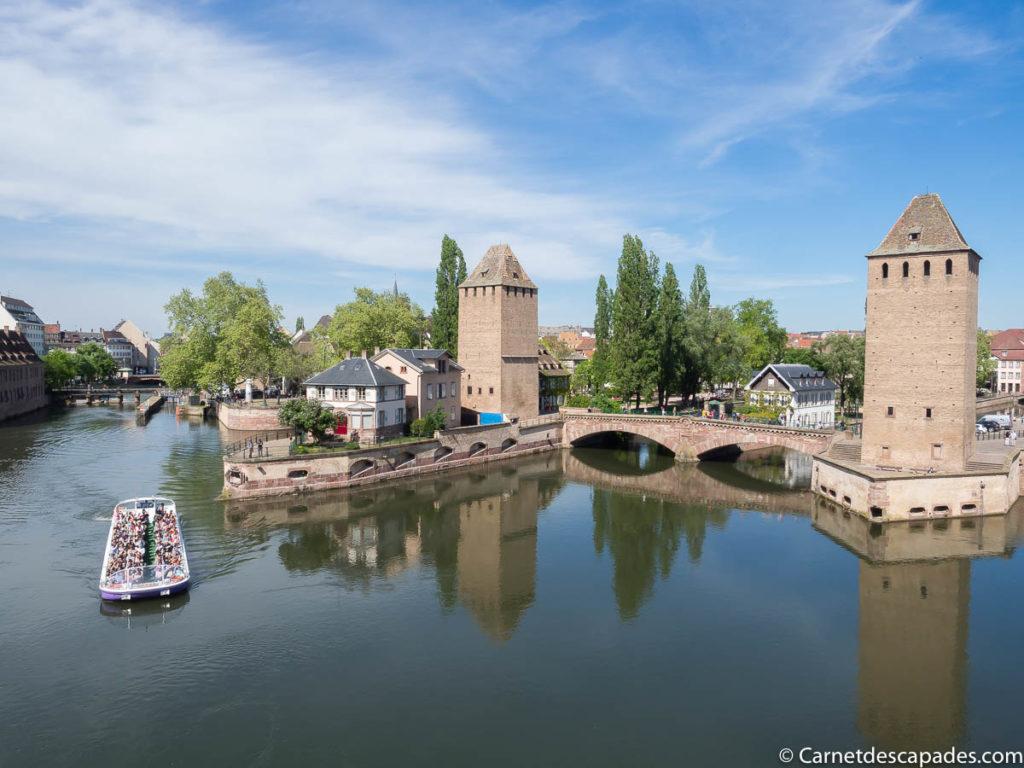 Vue depuis le Barrage Vauban à Strasbourg