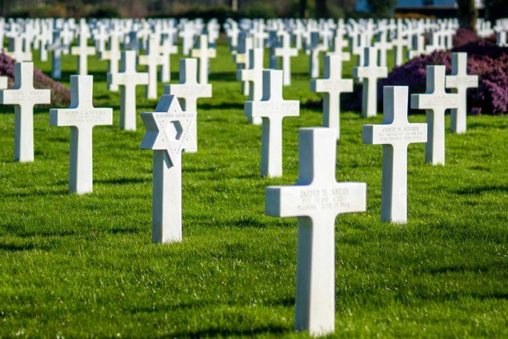 Croix de David au cimetière américain de Colleville
