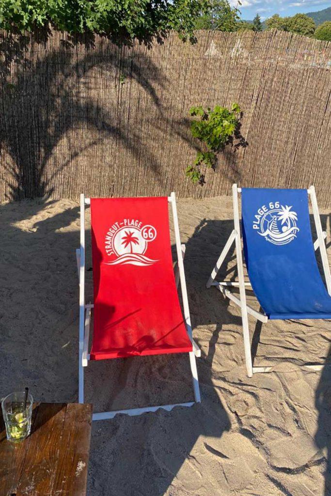 Baignade ou détente sur la plage d'Essgut à Offenbourg