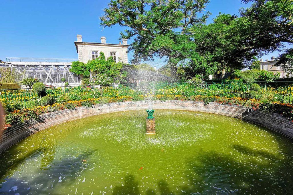 Le bassin du jardin botanique de Bayeux